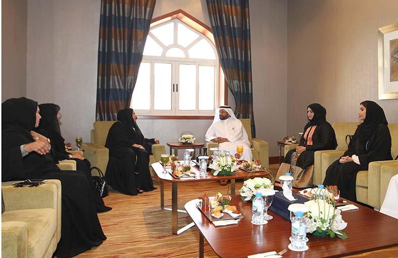رئيس غرفة الشارقة يثني على جهود مجلس سيدات أعمال الإمارات في الارتقاء بالعمل الاقتصادي النسائي