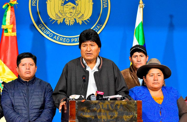 البرلمان البوليفي يناقش استقالة الرئيس السابق