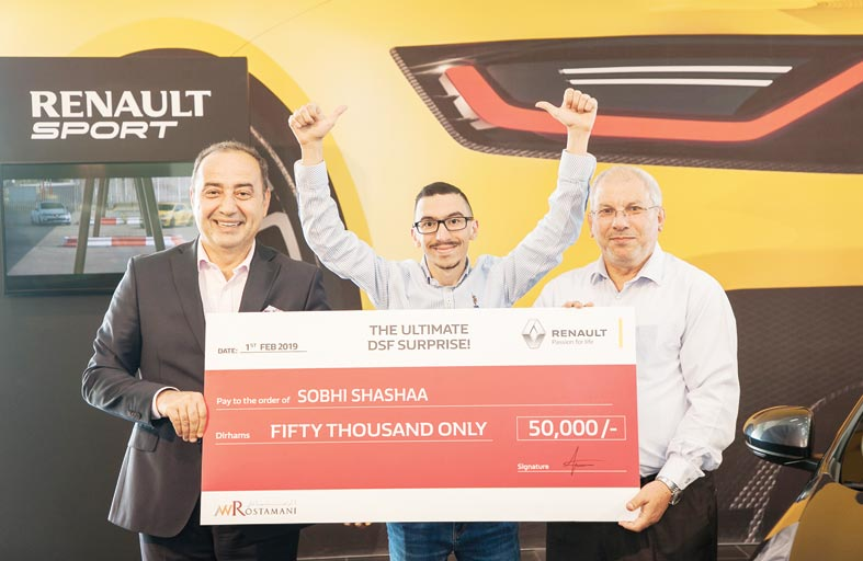 صبحي شعشاعه فائز آخر بمكافأة الـ 50,000 ألف درهم إماراتي من «العربية للسيارات»