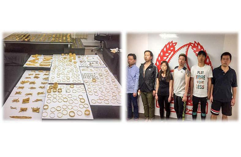 شرطة دبي تلقي القبض على أفراد العصابة رغم انهم مقنعون