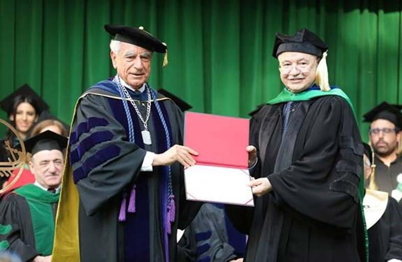الأمريكية اللبنانية تمنح طلال أبو غزالة الدكتوراة الفخرية في حفل تخريج الدفعة الـ 93