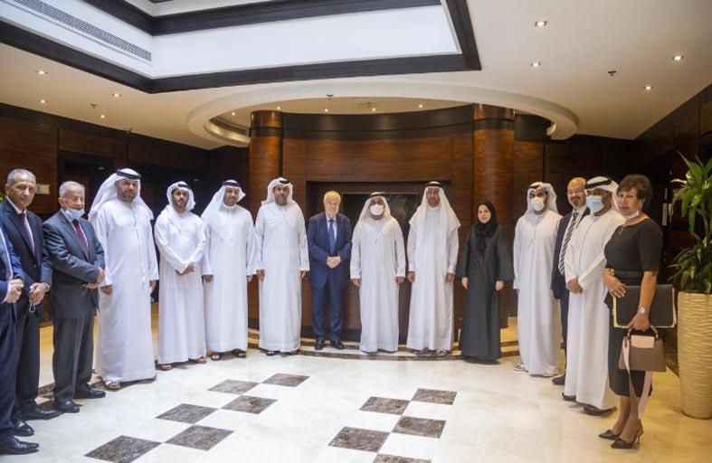 رئيس مجلس إدارة غرفة الفجيرة يلتقي طلال أبو غزالة