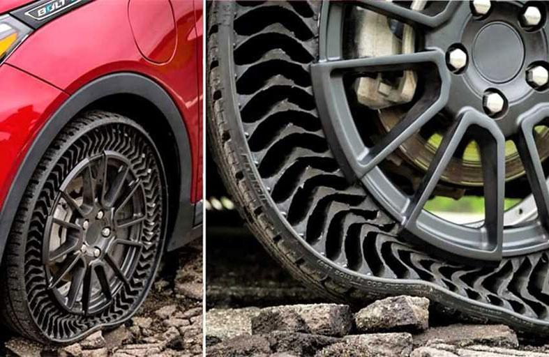 ثورة في عالم السيارات.. إطارات من دون هواء