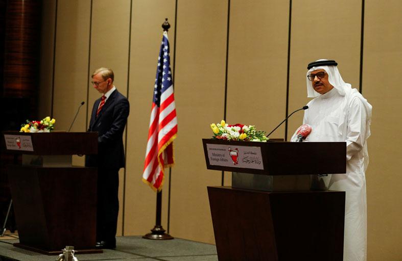 واشنطن والمنامة تؤكدان التزامهما بمكافحة العدوان الإيراني