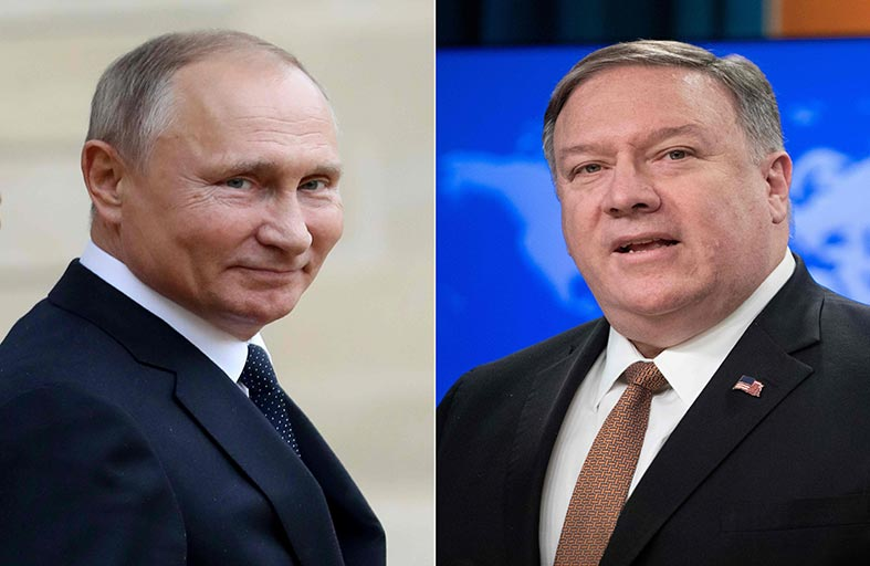 بومبيو يواجه تحديات كبيرة في أول لقاء مع بوتين