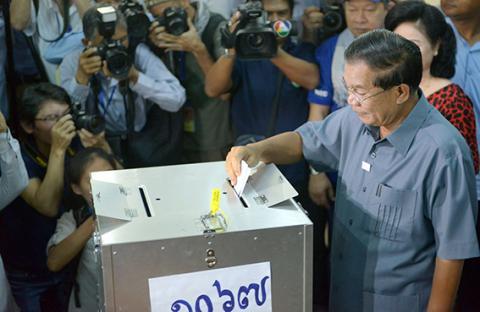رئيس وزراء كمبوديا يتأهب للفوز في الانتخابات