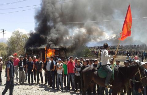 طوارئ في شمال قرغيزستان إثر اضطرابات