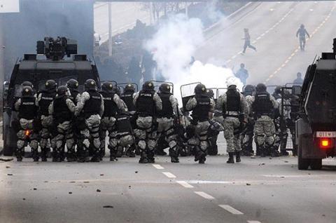 جرحى باشتباكات ألبان مع شرطة مقدونيا