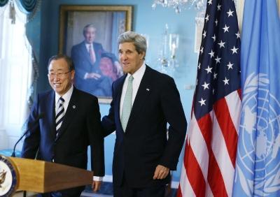 مباحثات بين بان ووزير الدفاع الأمريكي