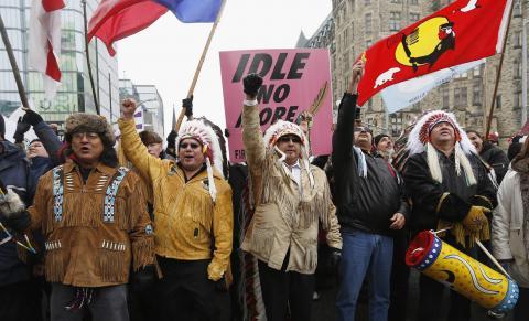 أوتاوا تحدد لقاء مع السكان الأصليين الغاضبين