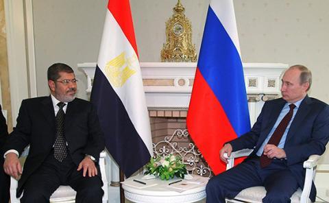 بوتين ومرسي يؤكدان تطور العلاقات