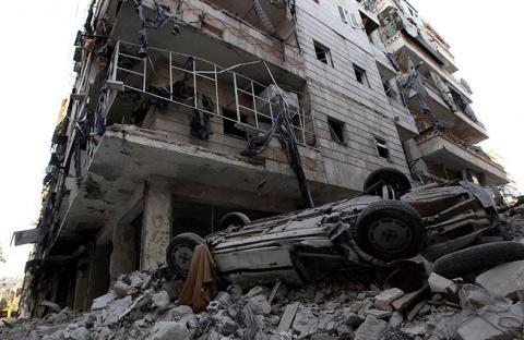 طائرات نظام الأسد تقصف دمشق