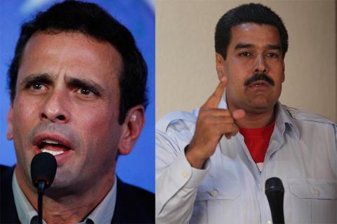 سباق رئاسة فنزويلا بين مادورو وكابريليس