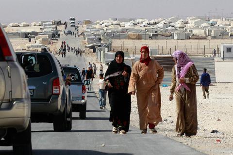 شغب في مخيم الزعتري للاجئين السوريين