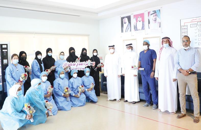 نادي الذيد الرياضي يبادر بتكريم الكوادر الطبية النسائية في خط الدفاع الأول