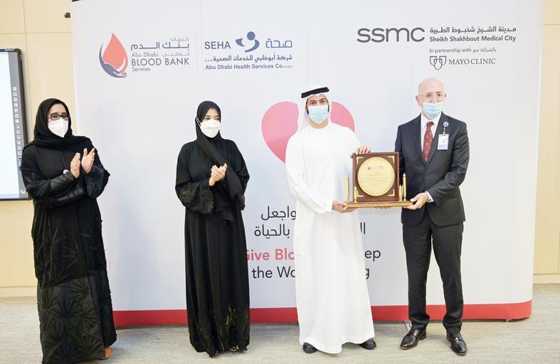 60 ألف وحدة دم تبرع بها 55 ألف شخص لبنك الدم في أبوظبي خلال 2020