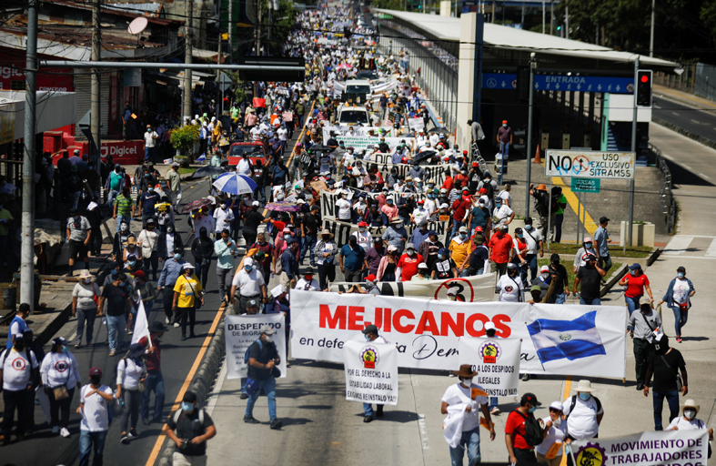 الآلاف يتظاهرون في السلفادور ضد الرئيس أبو كيلة