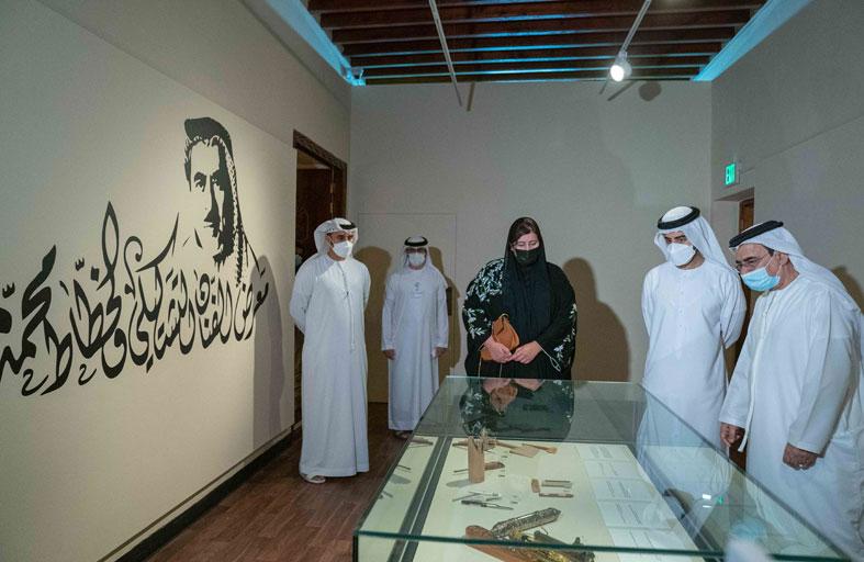 سالم بن عبدالرحمن القاسمي يفتتح معرض حروف مشرقة للفنان الإماراتي محمد مندي