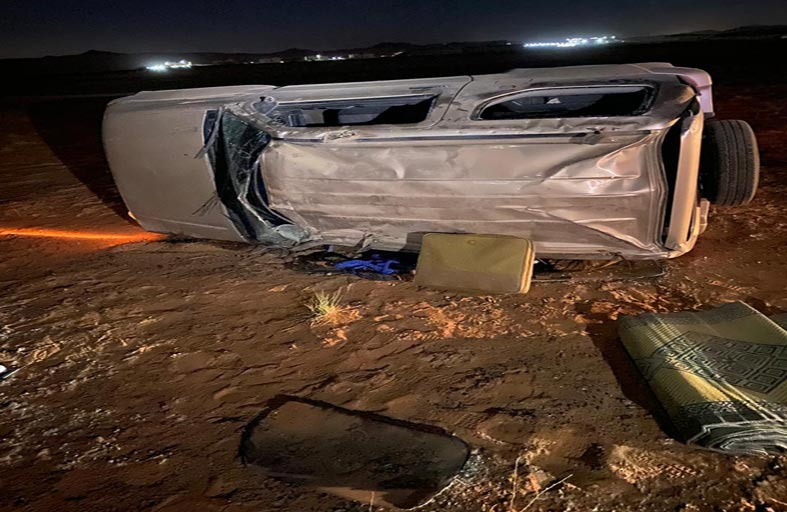 وفاة مواطن وإصابة أثنين في حادث تدهور مركبة يقودها طفل