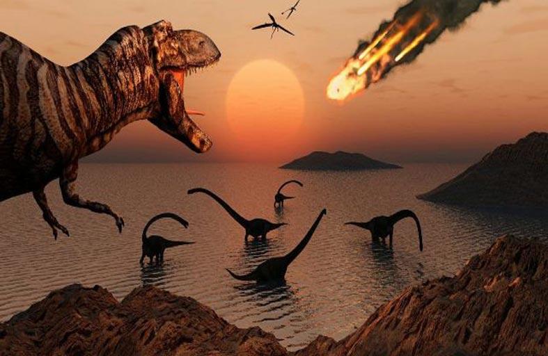 كويكب وليس البراكين سبب انقراض الديناصورات