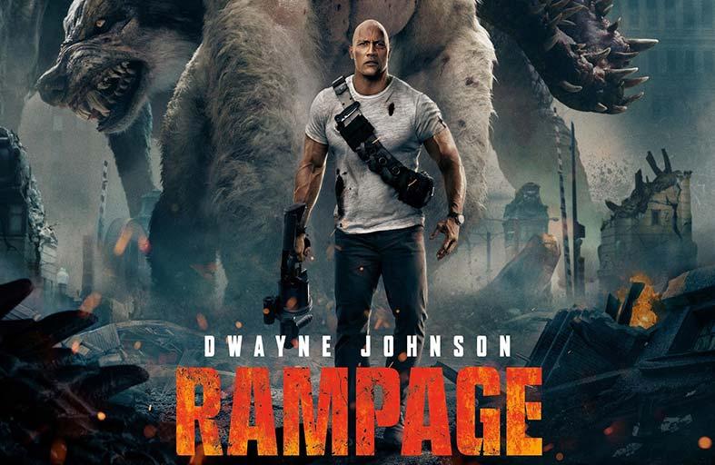 Rampage.. ثلاثة حيوانات معدلة  وراثية تسعى إلى تدمير المدينة