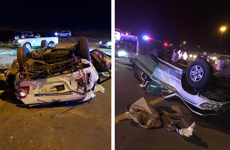 وفاة وإصابة 7 في حادث مروري برأس الخيمة