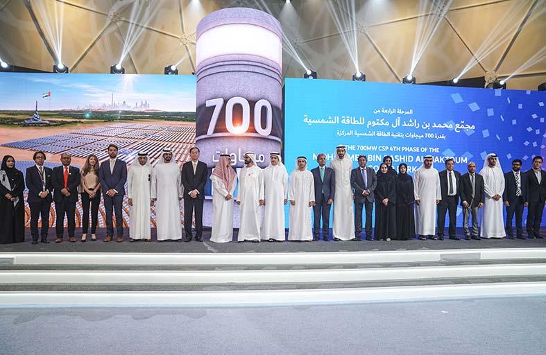 محمد بن راشد يضع حجر الأساس لأكبر مشروع استثماري للطاقة الشمسية المركزة في العالم