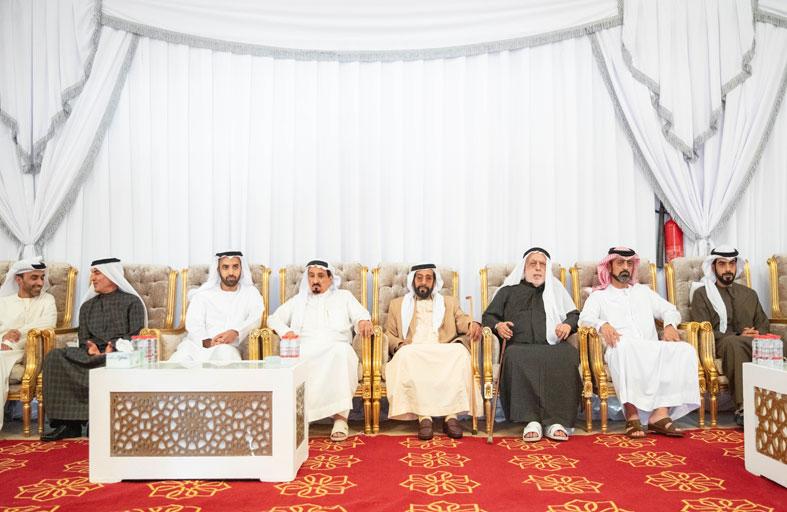 حاكم عجمان والشيوخ يقدمون واجب العزاء في وفاة الشيخة حمده بنت أحمد الغرير