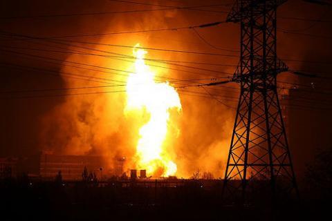 انفجار خط غاز وزلزال في سوشي بروسيا