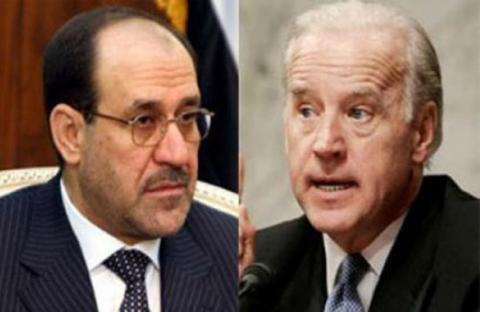 المالكي وبايدن يبحثان الأزمة السورية