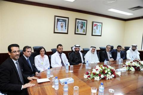 الميدور وبوملحة يتفقدان مرضى مبادرة نبضات بمستشفى دبي