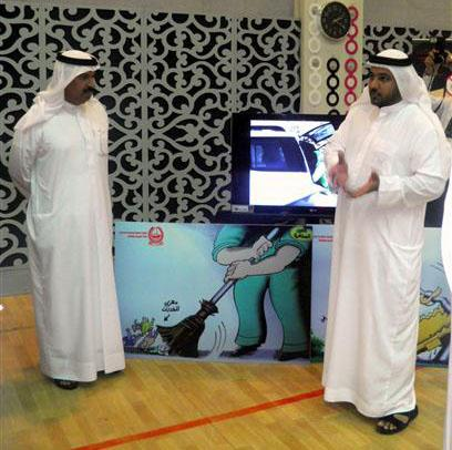 مكافحة المخدرات في شرطة دبي تشارك في البرنامج التوعوي نلتقي لنرتقي