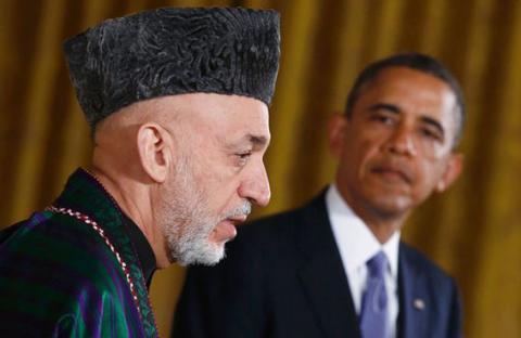أوباما وكرزاي يدعمان المحادثات مع طالبان
