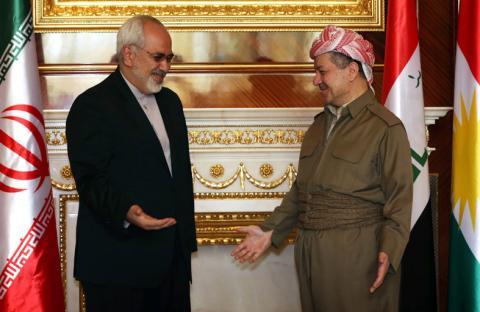 برزاني: إيران زودت القوات الكردية بالأسلحة