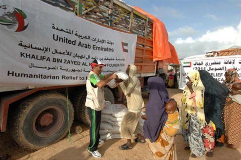 الإمارات تقدم أكثر من 213 مليون درهم مساعدات إنسانية للصومال خلال الفترة من 2009 إلى 2012