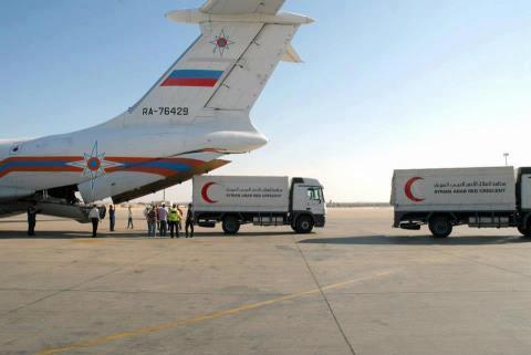 طائرة مساعدات روسية لسوريا