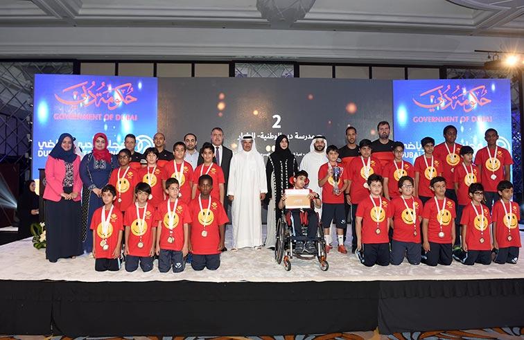 مجلس دبي الرياضي يتوج الفائزين في دورة حمدان بن محمد للألعاب المدرسية
