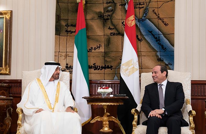 محمد بن زايد والسيسي يؤكدان على التنسيق لمواجهة الإرهاب ومصادر تهديد الأمن الإقليمي
