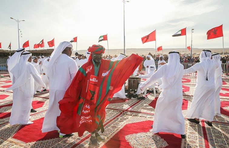 الفن الشعبي الإماراتي أهم محطات  الجذب للزوار في مهرجان طانطان الثقافي بالمغرب