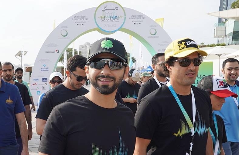 منصور بن محمد يشهد الكرنفال الختامي لـ « تحدي دبي للياقة »