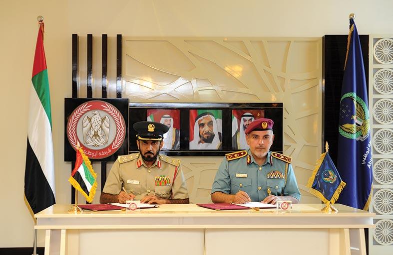 مذكرة تفاهم  ربط إلكتروني لقاعدة البيانات بين شرطة أبوظبي ودبي