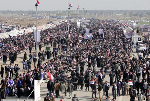 مظاهرة في بغداد  تأييداً لحكومة المالكي
