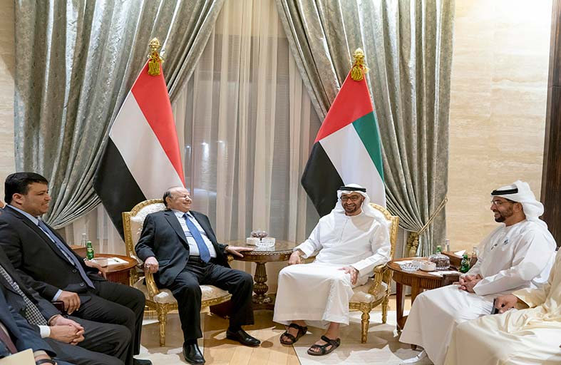محمد بن زايد: التحالف العربي أكثر قوة وتقدما وإنجازا في اليمن لبسط الاستقرار وتحرير الأرض