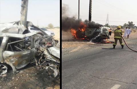 6 وفيات وإصابات مرورية في عطلة العيد برأس الخيمة