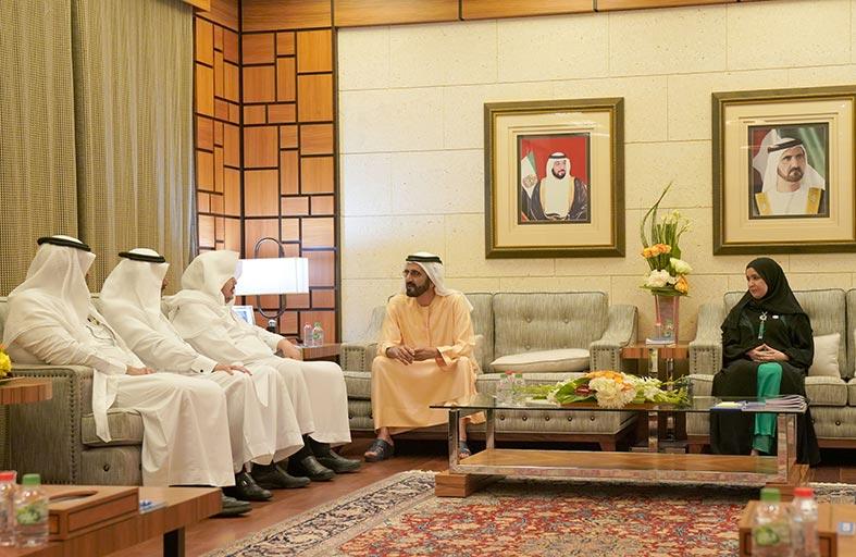 محمد بن راشد يستقبل رئيس مجلس الشورى في السعودية