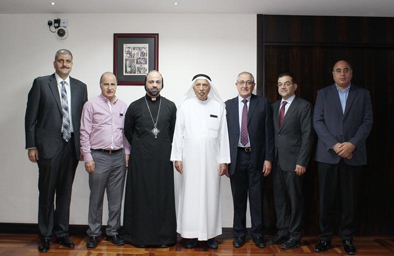 جمعة الماجد يبحث التعاون الثقافي مع النائب البطريركي للسريان الأرثوذكس