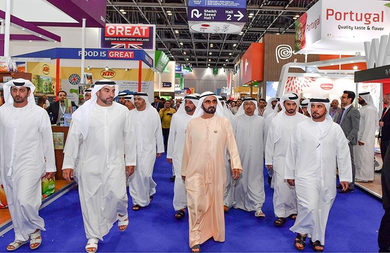 محمد بن راشد يزور معرض «جلفود 2019 » ويشيد بحجم المشاركة المحلية والعالمية