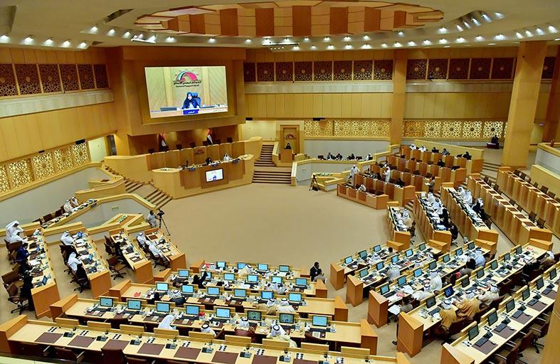 المجلس الوطني الاتحادي يناقش 3 مشروعات قوانين تتعلق بالميزانية والوقف ويوجه 9 أسئلة لممثلي الحكومة