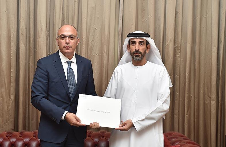 """وكيل """"وزارة الخارجية"""" يتسلم نسخة من أوراق اعتماد سفير لبنان لدى الدولة"""