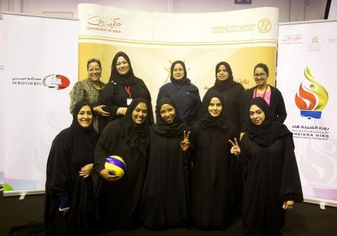 تواصل منافسات دورة الشيخة هند للألعاب الرياضية للسيدات